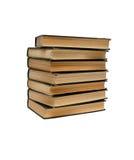 концы книг изолировали старый увиденный стог Стоковые Фото