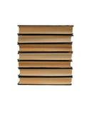 концы книг изолировали старый увиденный стог Стоковое фото RF