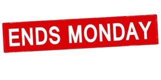 Концы понедельник иллюстрация вектора