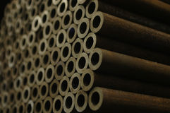 концы пускают малую сталь по трубам Стоковое Изображение
