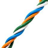 Концы электрического кабеля, изолированные на белизне Красочная пачка избирает Стоковое Фото