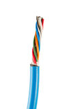 Концы электрического кабеля, изолированные на белизне Красочная пачка избирает Стоковое Изображение