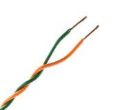 Концы электрического кабеля, изолированные на белизне Стоковые Фото
