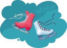 коньки катаясь на коньках 2 женской диаграммы мыжские Стоковые Изображения RF