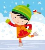коньки льда девушки Стоковая Фотография