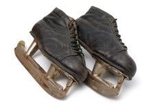коньки пар льда старые Стоковая Фотография RF
