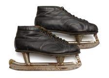 коньки пар льда старые Стоковое Изображение RF