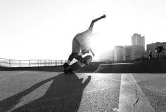 Конькобежец в шаре стоковая фотография
