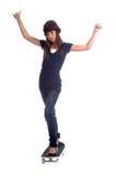 конькобежец девушки Стоковое Фото