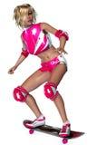 конькобежец девушки стоковые фотографии rf