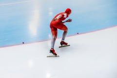 Конькобежец девушки голодает гонка Стоковые Фотографии RF