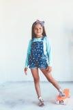 Конькобежец девушки ребенк Стоковая Фотография RF