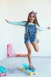 Конькобежец девушки ребенк Стоковые Изображения RF