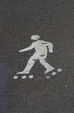 конькобежец знака ролика стоковое изображение rf