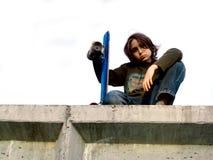конькобежец мальчика Стоковые Фотографии RF