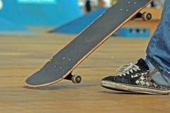 конькобежец мальчика Стоковые Фото