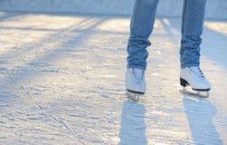 конькобежец ног s Стоковое Изображение