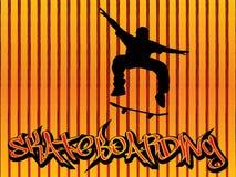конькобежец померанца предпосылки Стоковое Изображение RF
