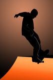 конькобежец предназначенный для подростков Стоковые Изображения