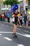 конькобежец ролика гордости парада lgbt Стоковые Фото