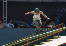 конькобежец ролика Стоковое Изображение RF
