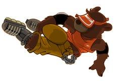 конькобежец скачки медведя Стоковые Фото