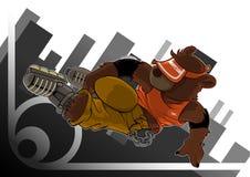 конькобежец скачки медведя Стоковая Фотография RF