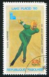 конькобежец стоковое изображение rf