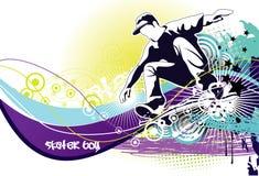 конькобежец grunge бесплатная иллюстрация