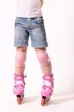 конькобежец rollerblades ролика ног Стоковые Изображения RF