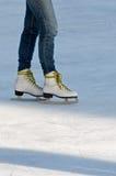 конькобежцы ног Стоковые Изображения