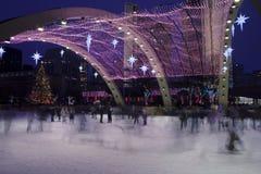 конькобежцы рождества Стоковые Фото