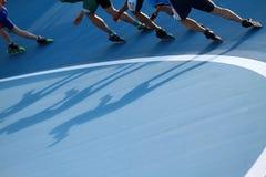 конькобежцы стоковые фото