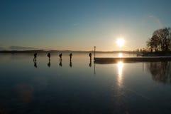 конькобежцы Стоковые Фотографии RF