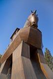 Конь на Трое Стоковое Фото