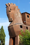 Конь расположенный в Трое Стоковая Фотография RF