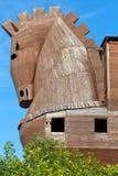 Конь расположенный в Трое Стоковые Изображения