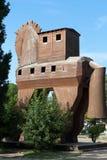 Конь расположенный в Трое Стоковая Фотография