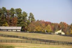 конюшни лошади осени Стоковое Изображение