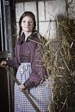 конюшня девушки Стоковая Фотография