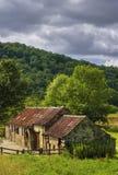 конюшня сельской местности блока Стоковые Фото