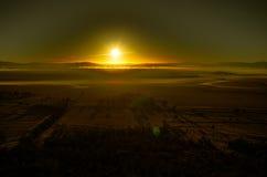Конденсационный след восхода солнца Стоковая Фотография