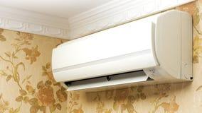 Кондиционер воздуха в домашнем интерьере Стоковые Фото