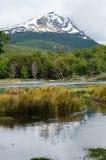 Кондор Cerro и Lago Roca, национальный парк Огненной Земли, Ushu Стоковые Изображения RF