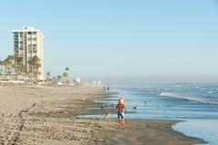 Кондо Oceanfront на пляже Coronado Стоковое фото RF
