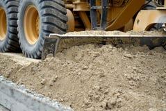 копать мотора грейдера земли Стоковые Изображения RF