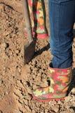 копать сада садовничая Стоковое Изображение RF