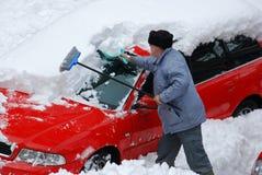 Снежок в месте для стоянки Стоковые Изображения RF