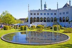 Копенгаген, Дания - дворец Moorish в садах Tivoli Стоковые Изображения