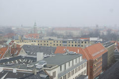 Копенгаген на туманнейший день Стоковые Фото